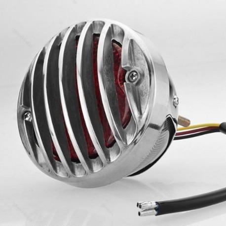 Zadní moto světlo s gril mřížkou