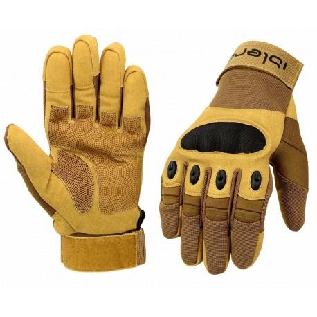 6e24b3bbc24 kožené rukavice na motorku motorkářské motocykl moto hnědé