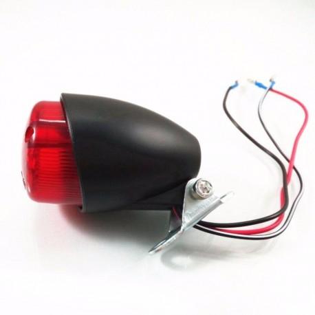 Zadní moto světlo - kapkovitý tvar černé