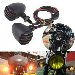 Moto blinkr – blikač - černý matný, kapkovitý tvar, 2 ks