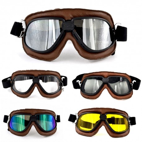 Retro vintage ochranné motocyklové brýle