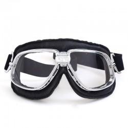 Retro vintage ochranné motocyklové brýle hnědé