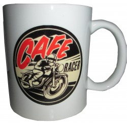 Hrnek - logo Cafe racer rock'n'roll ride
