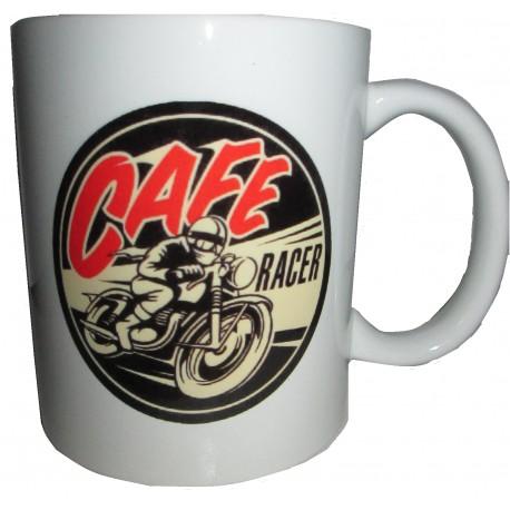 Hrnek - logo Cafe racer rock'n'roll ride
