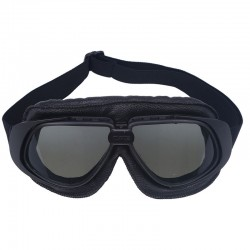 Retro vintage ochranné motocyklové brýle černé