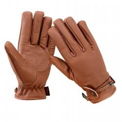 Kožené rukavice na moto - cafe racer