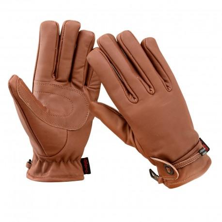 42b21099d0f kožené rukavice na motorku motorkářské motocykl moto hnědé