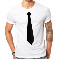 Tričko černé s kravatou
