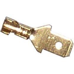 Faston plochý konektor 6,3mm, 10 ks