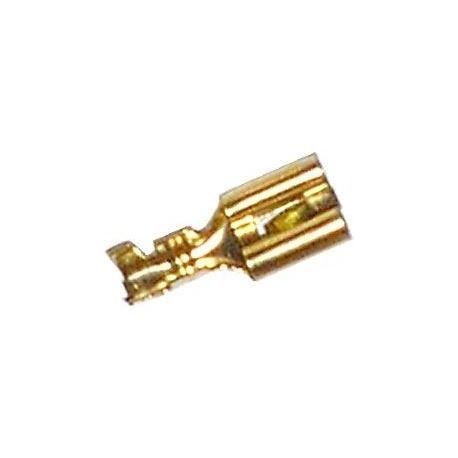 Faston zdířka pro konektor 6,3mm, 10 ks