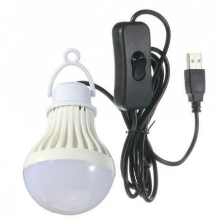 Cestovní závěsná LED žárovka - napájení USB