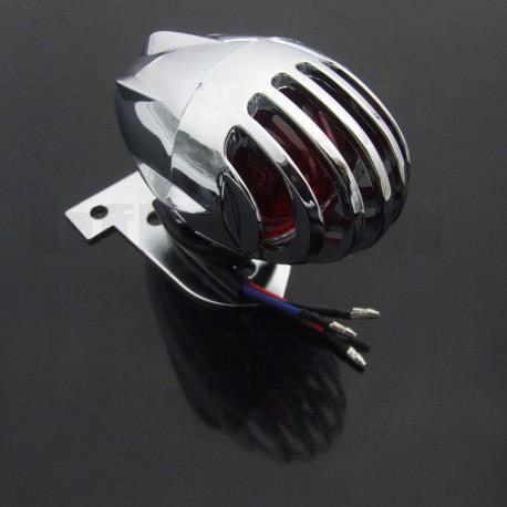 Zadní moto světlo s mřížkou