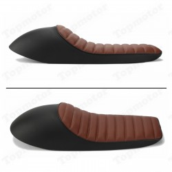 Sedlo černo hnědé- cafe racer - 62 cm